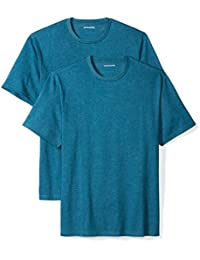 Men's Big & Tall 2-Pack Loose-Fit Short-Sleeve Crewneck T-Shirts fit by DXL, teal heather, XX-Large