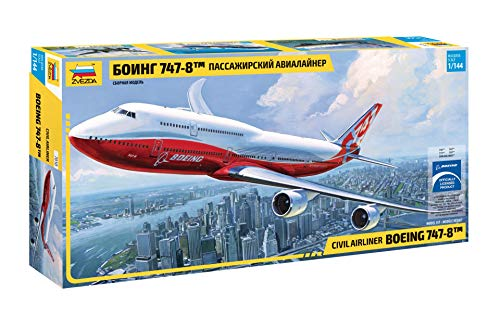ZVEZDA 7010 - Civil Airliner BOEING 747-8 - Plastic Model Kit Scale 1/144 Lenght 20.75