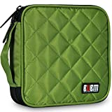 32 Capacity CD / DVD Wallet, 230D Space Twill Cover, Various Colors - Green