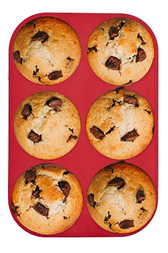 Mrs. Anderson's Baking 43817  6-Cup Muffin Top Pan, Non-Stick European-Grade Silicone by Mrs. Anderson's Baking (Image #2)