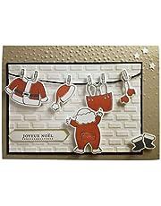 4.8x3.3inch Santa Claus Clear Stamp and Dies Set Die Cuts Metal Cutting Die for Scrapbooking Card Making