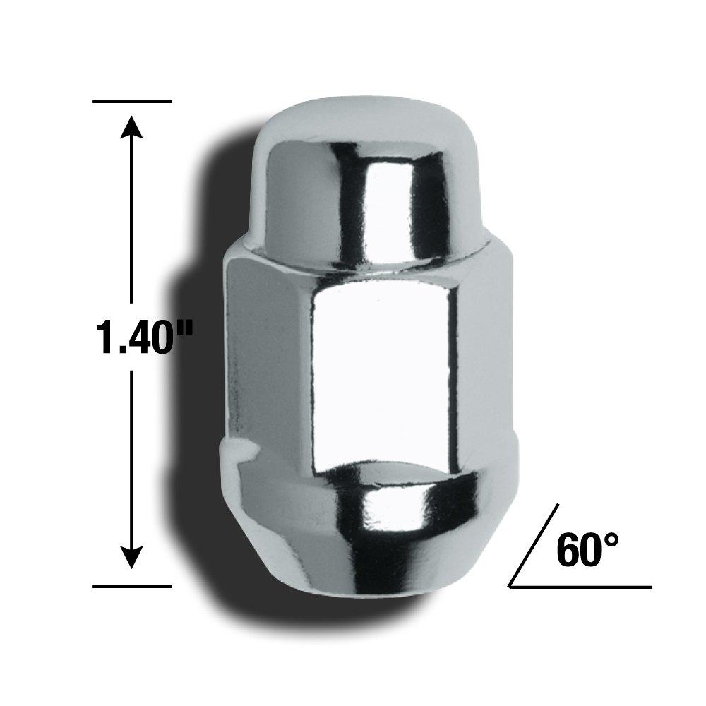 Gorilla Automotive 41177HTB Heat Treated Acorn Bulge Lug Nuts 7//16 Thread Size
