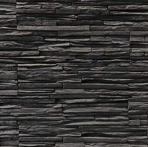 Modern Panel - Nevada Slate - Jet Black - Flats 12 Sq. Ft. Handy Pack - Manufactured Stone Veneer