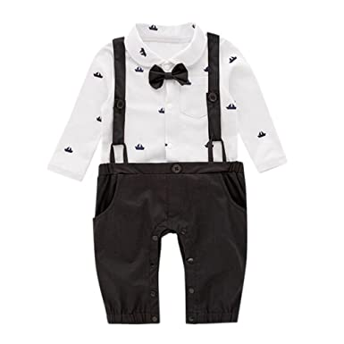 f2b7f9aa1 Hotsellhome New Children Baby Boy Gentleman Christening Suit Infant ...