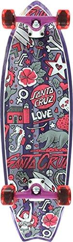 Santa Cruz Doodle Shark 9.75x32.92 Complete Skateboard - Shark Complete Skateboard