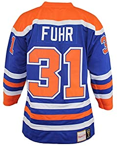 Grant Fuhr 1986 Oilers Mitchell & Ness Jersey