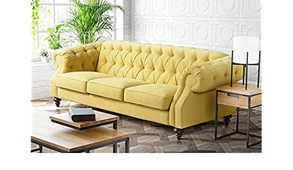 My-Furniture - Sofá Buster Málaga Mustard de 3 plazas ...