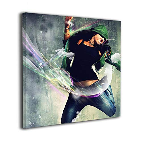(SIGOU Frameless Oil Painting Hip Hop Dance Modern Canvas Wall Art Pictures Decor Ready to Hang for Home Living Room Bedroom Bathroom Office - 30/40/50cm)