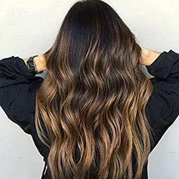 Amazon Com Full Shine 22 Human Hair Wig Highlights Color