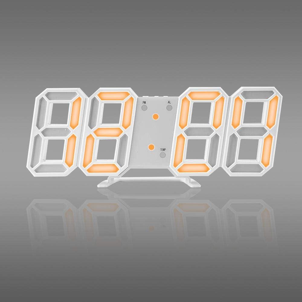 shenyan 2020 3D LED Reloj de Pared Moderno Reloj de Mesa Digital de Pared,Reloj despertadores de Escritorio Reloj de Pared de luz Nocturna Sala de Estar