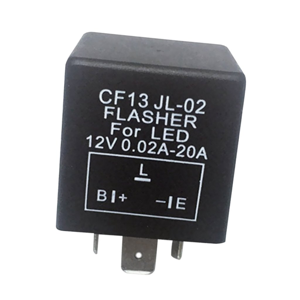 D DOLITY 3Pin CF13 JL-02 Electronic Flasher Relay Fix Car LED Turn