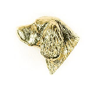 Sussex Spaniel Made in U.K Artistic Style Dog Clutch Lapel Pin Collection 22ct Gold Plated 2