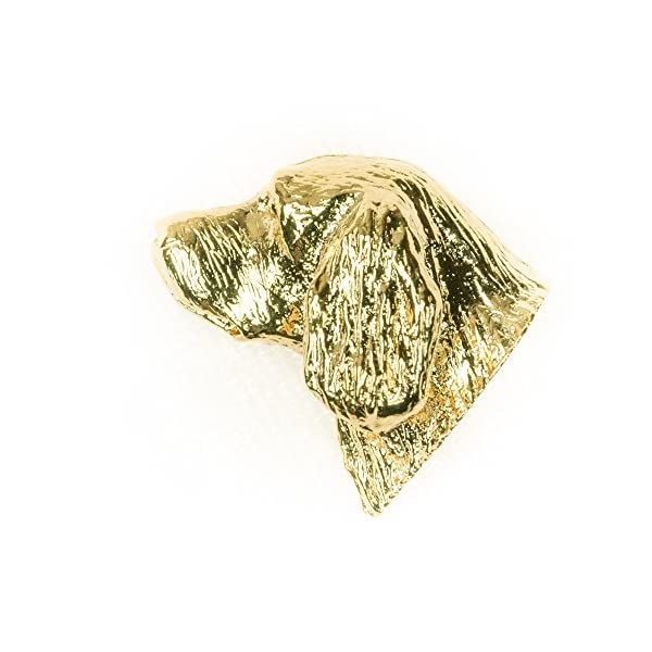 Sussex Spaniel Made in U.K Artistic Style Dog Clutch Lapel Pin Collection 22ct Gold Plated 1