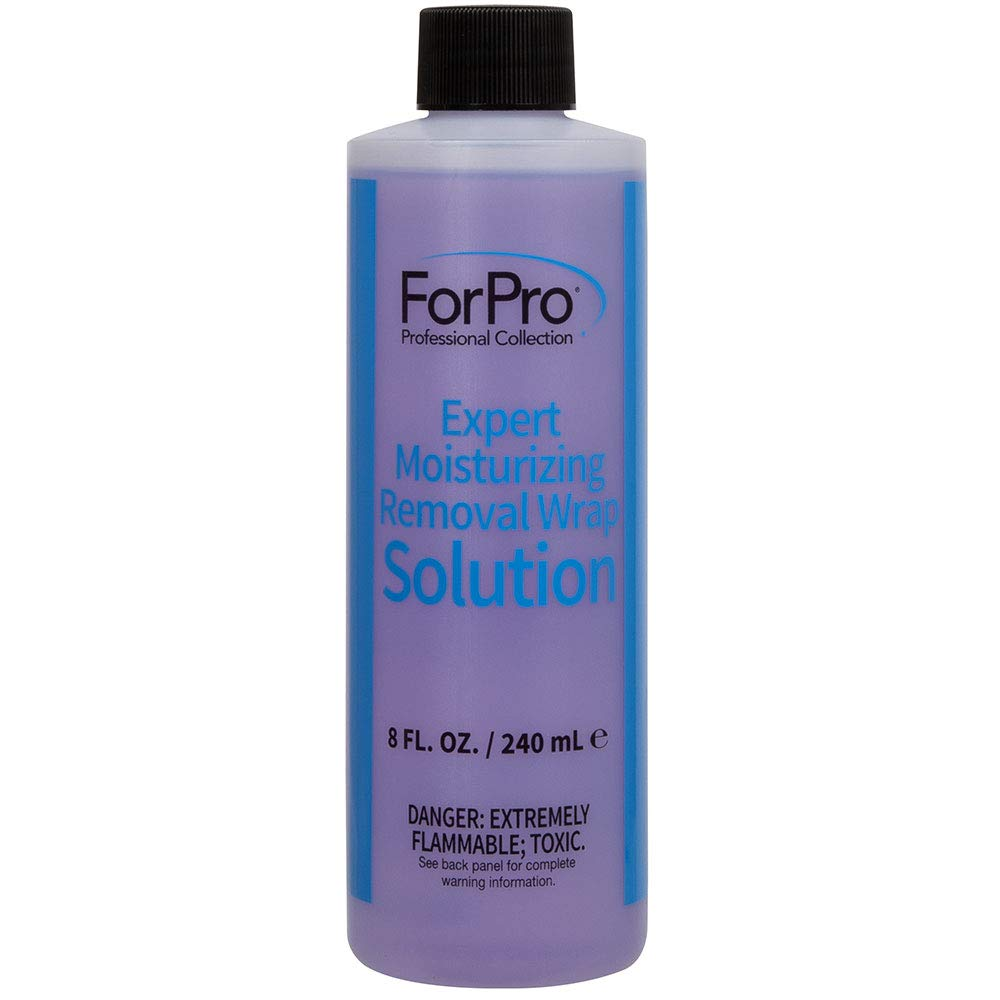 ForPro Expert Moisturizing Removal Wrap Solution, Removes All Gel Polish and Acrylic Residue, 8 Ounces