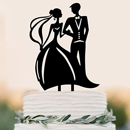 Bride and Groom Cake Topper Couple In the Family Wedding Party Decoration
