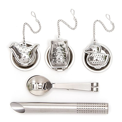 Why Choose HULLR Stainless Steel Tea Infuser Gift Set, Tea Strainer & Steeper Bundle. (Birds Theme)