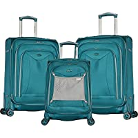 Olympia USA Luxe II Black 3-Piece Expandable Spinner Set (Teal)