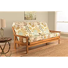 Kodiak Furniture KFMOBTENGGDLF5MD3 Monterey Futon Set with Butternut Finish, Full, English Garden