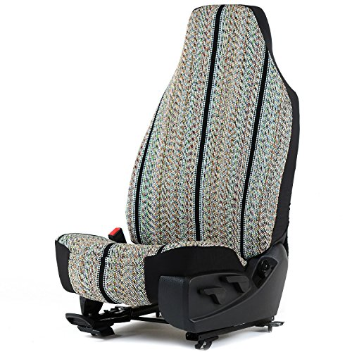 (Outlaw Products Black Saddleblanket High Back Bucket Seat Cover )