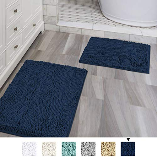 Can Bathroom Rugs Go In The Dryer: H.VERSAILTEX Push Microfiber Bath Rugs Chenille Floor Mat