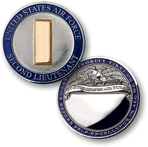 Air Force Second Lieutenant Engravable Challenge Coin (Challenge Coin Air Force)