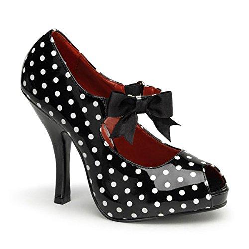 Heels-Perfect - Zapatos de vestir para mujer multicolor multicolor negro - Mehrfarbig (Schwarz/Weiß)