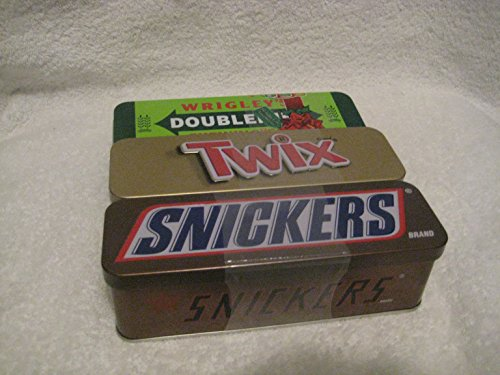 Twix Minis, Snickers & Double-mint Gum in a Nostalgic Collectible Tin, 3.53 Oz (3- pack) Nostalgic Gum