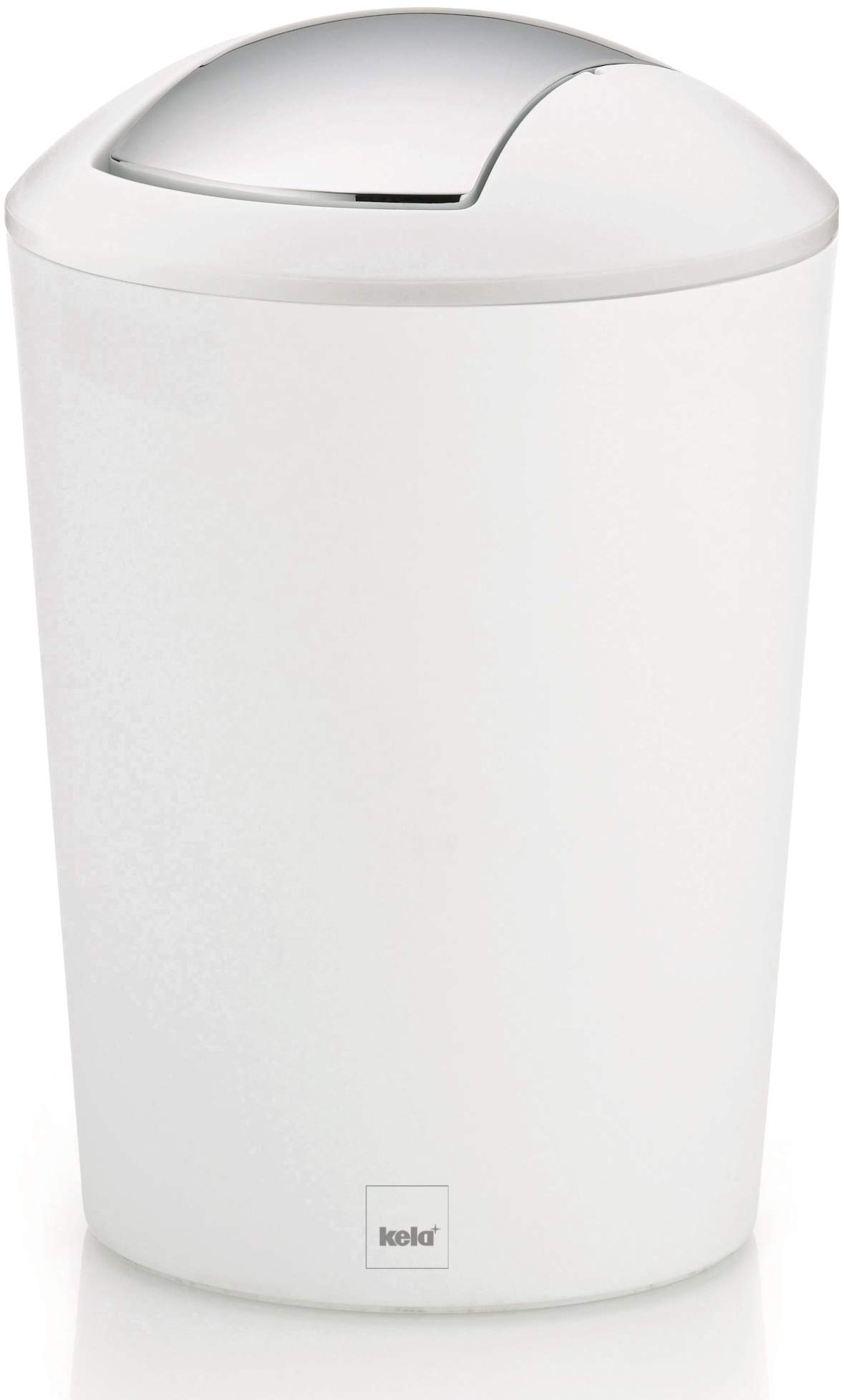 Kela Trash Can with Lid Marta Collection, White