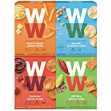 WW Savory Crunchy Snack Variety Pack - Barbecue, Chili Lime, Mac & Cheese & Sea Salt Hummus, 2 SmartPoints, 5 of Each Flavor (20 Count Total) - Weight Watchers Reimagined