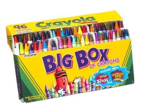 Crayola Crayons Box,96 Count ( Case of 6 ) by Crayola