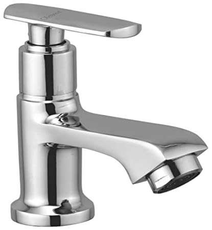 Oleanna Speed Brass Pillar Cock for Wash Basin and Sink Tap (Disc Fitting | Quarter Turn | Form Flow) Chrome
