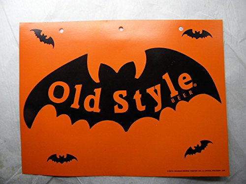 Old Style Beer Halloween Bat Promo 1995 Measures 12 Inches By 9 Inches ()