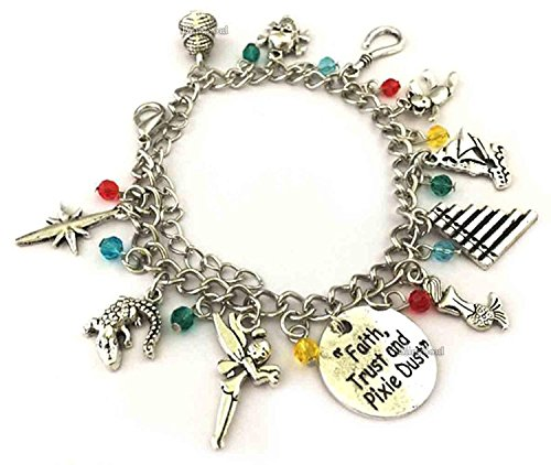 Premium Quality Movie Jewelry Collection (Peter Pan Charm Bracelet)]()