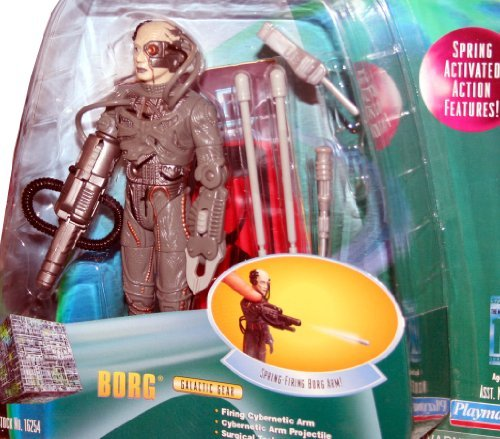 BORG Star Trek: The Next Generation 1998 Warp Factor Series 1 Deluxe Action Figure with Spring-Firing Borg Arm ()