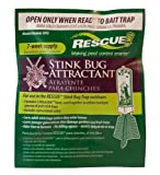 RESCUE! American-Made Odor-Free Reusable Indoor/Outdoor Stink Bug Trap 7-Week Refills