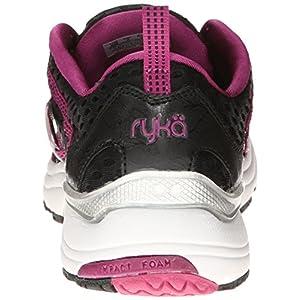 RYKA Women's Hydro Sport Water Shoe Cross-Training Shoe, Black/Berry/Chrome Silver, 8 M US