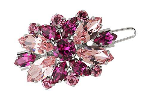 L. Erickson Countess Crystal Tige Boule Barrette - Light Rose/Fuchsia/Silver by L. Erickson (Image #4)