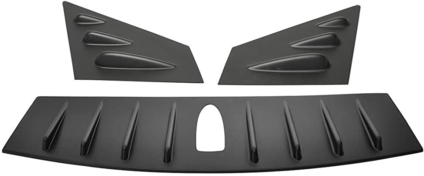 2016 2017 Window Louver Fits 2015-2018 Ford Mustang ABS Plastic Rear Window Visor Guards By IKON MOTORSPORTS