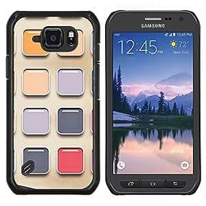 Stuss Case / Funda Carcasa protectora - Pintura de la acuarela del artista Colores reflectante - Samsung Galaxy S6 Active G890A