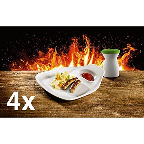 4 x Villeroy & Boch Tischkultur Steakteller Ultimate BBQ M 24 x 22 cm 2572