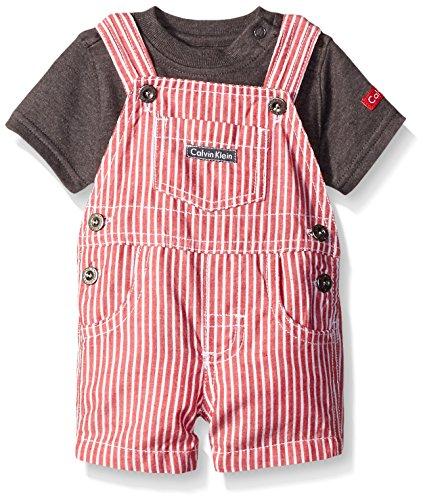Calvin Klein Baby Boys Interlock Top with Woven Shortall