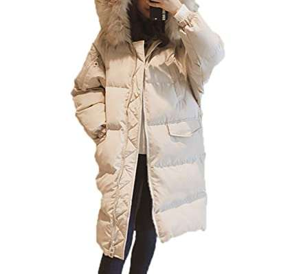 Otoño Invierno Mujer Algodón Abrigos con Capucha Moda Mantener Caliente Longitud Media Outwear Hoodie Parka Jacket Tunica Casual Manga Larga Abajo Chaqueta ...