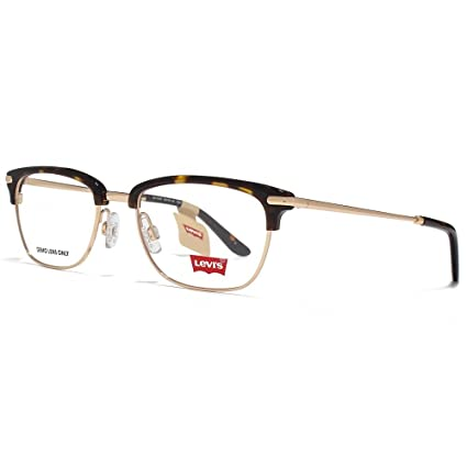 db81f56cb9a1 Levis Retro Half Rim Glasses in Tortoiseshell LS112 02 TOR 50 Clear   Amazon.ca  Luggage   Bags