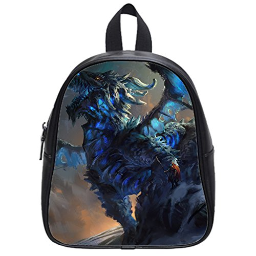 [JIUDUIDODO Multifunctional PU Leather Custom Best Gifts Pretty Dragon 3D printed School Bags Backpacks Outdoor Bags Travel Bag] (Hobo Costume For Toddler)