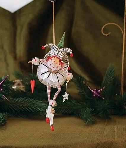 Joker Christmas Ornament.Patience Brewster Josie Joker Of Hearts Christmas Figural Ornament 08 30763