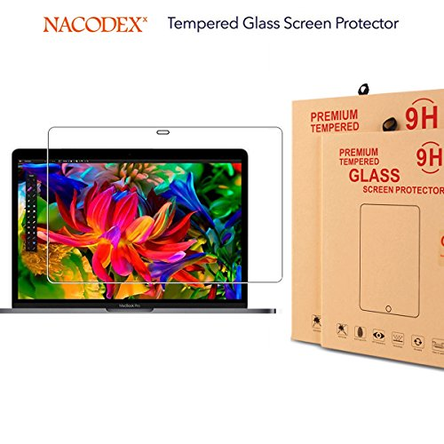 Nacodex Retina MacBook Pro 13 inch with Touch Bar laptop Screen Protector ,9H Hardness Full Coverage Tempered Glass Screen Protector for 13.3-inch Apple MacBook Pro 13 inch