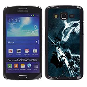 Be Good Phone Accessory // Dura Cáscara cubierta Protectora Caso Carcasa Funda de Protección para Samsung Galaxy Grand 2 SM-G7102 SM-G7105 // Asteroid Belt Apocalypse Planet Art Eart
