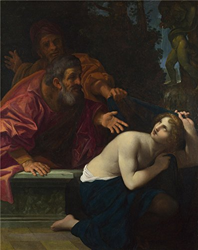 - Oil Painting 'Ludovico Carracci Susannah And The Elders ' Printing On High Quality Polyster Canvas , 24 X 30 Inch / 61 X 77 Cm ,the Best Home Theater Decor And Home Gallery Art And Gifts Is This Beautiful Art Decorative Prints On Canvas