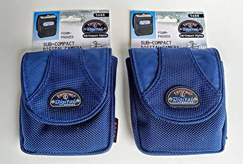 2 Tamrac Camera Cases for The Price of One! 5688 T6 Photo Digital Camera Bag Blue Small Compact Padded Case Set for Point & Shoot Canon PowerShot Nikon Coolpix Panasonic Lumix Sony Cyber-Shot Cameras