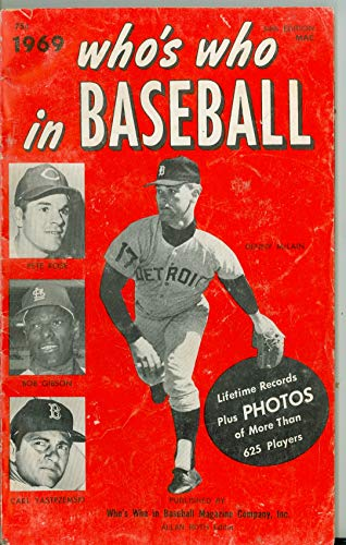 1969 Who's Who in Baseball Denny McLain, Rose, Gibson, Yastrzemski Very Good to Excellent